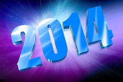 3D Year 2014. Happy new year 2014 Stock Photography