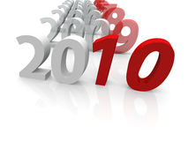 3D years till 2010. 3d hq image: years till 2010 Stock Photo