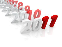 3D years till 2011 Royalty Free Stock Images