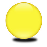 3d yellow colored sphere. Eye catching glossy orb for your e-business or website Stock Photography