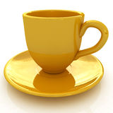 3d yellow cup Royalty Free Stock Photography