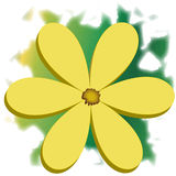 3D Yellow Daisy Flower Illustration Royalty Free Stock Image