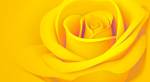 3D Yellow-orange levantou-se Fotografia de Stock Royalty Free
