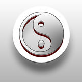 3D yin and yang symbol Royalty Free Stock Images