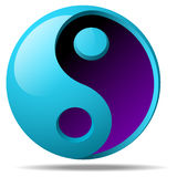 3d ying yang sign Stock Photo