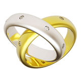 3d złocistego pierścionku ślub Obrazy Royalty Free