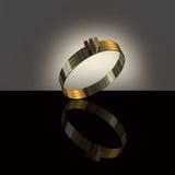 3d złocistego pierścionku biel Obrazy Stock