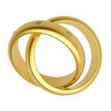 3d złoto obrączka ślubna Fotografia Royalty Free