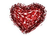 3D złamane serce royalty ilustracja