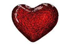 3D złamane serce ilustracji