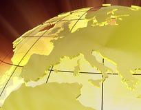 3d złoto Europe Zdjęcia Stock