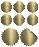 3d złoty odznaka odsetek Zdjęcie Royalty Free