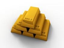 3d zakazuje złoto Fotografia Stock