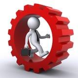 3d zakenlieden binnen toestel. Bedrijfs concept Stock Illustratie