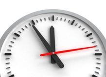 3d zegar odizolowywający odpłaca się biel Obraz Stock