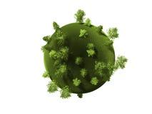 3d zieleni planety rendering Zdjęcie Stock