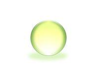 3d zielona sfera Zdjęcia Royalty Free