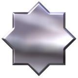 3D Zilveren Ster van 8 Punt royalty-vrije illustratie