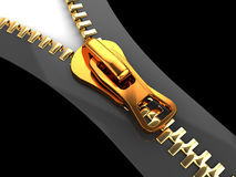 3d zipper Royalty Free Stock Images