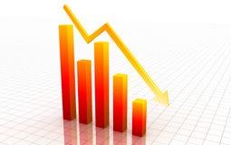 3d zmniejszanie wykres Zdjęcie Stock