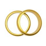 3d złocistego pierścionku ślub Fotografia Royalty Free