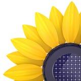 3d zonnebloemzonnecel Stock Illustratie