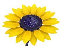 3d zonnecelzonnebloem Stock Illustratie
