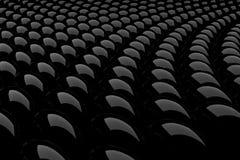 3d zwart glanzend gebied abstract patroon Stock Fotografie