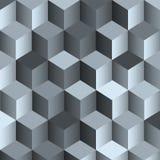 3d zwart-wit achtergrond met kubus royalty-vrije illustratie
