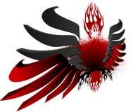 3D Zwarte Rode Vleugels van de Brand royalty-vrije illustratie