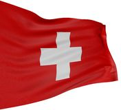 3D Zwitserse vlag vector illustratie