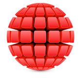 3dBall21Globe1RedRed Stock Photos