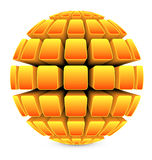 3dBall21Globe1Yellow Royalty Free Stock Image