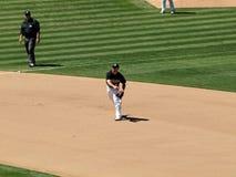 3de baseman Kevin Kouzmanoff werpt hard aan eerste Royalty-vrije Stock Afbeelding
