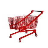 3dmax basket. 3dmax. Red basket on a white background Royalty Free Stock Photography
