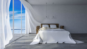 3ds Seaside Room Royalty Free Stock Photos