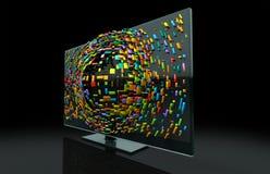 3DTV het Concept van de televisie royalty-vrije illustratie