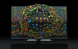 3DTV het Concept van de televisie stock illustratie