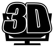 3DTV Icon Stock Photos