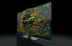 3DTV Television Concept Royalty Free Stock Image