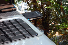 3g关键调制解调器笔记本usb 图库摄影