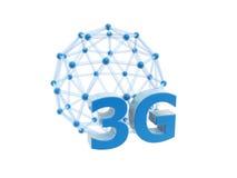 3g δίκτυο κλουβιών σφαιρών Διανυσματική απεικόνιση