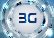 3G 4G blue background Stock Images
