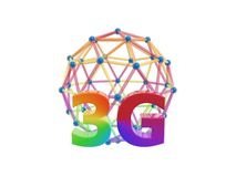 3g network cage ball. Isolated on white background Stock Photography