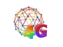 3g network cage ball. Isolated on white background Royalty Free Stock Images