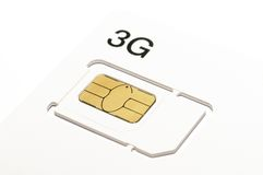 3G sim card Royalty Free Stock Photos
