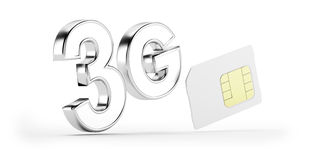 3G SIM card Stock Images