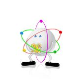 3G Technology & Colors. 3G concept 3d character,isolated on white background Stock Images
