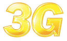 3G Text Graphic. Enhanced text illustration for 3G third generation cell phone data network Royalty Free Stock Images