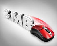 3MB speed mouse Stock Images